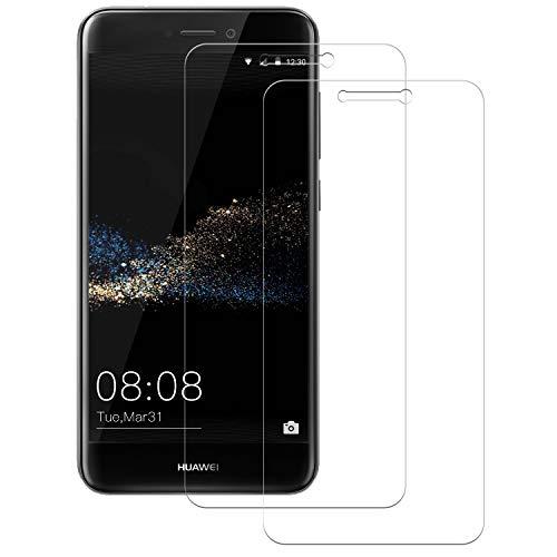 POOPHUNS 2-Unidades Cristal Templado Huawei P8 Lite 2017, Protector de Pantalla Cristal Vidrio Templado Premium para Huawei P8 Lite 2017,9H Vidrio Real No se despega uellas Dactilares Libre
