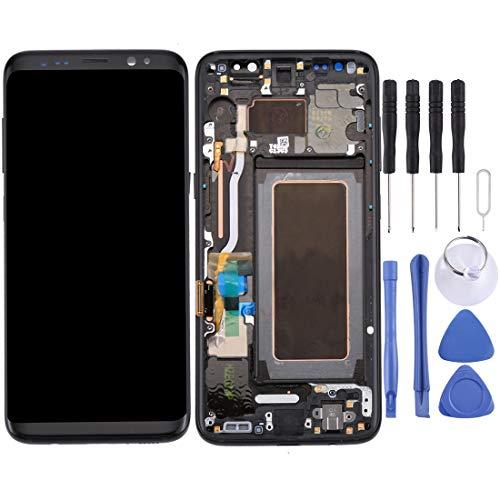 Compatibel met Galaxy LCD SAMSUNG Nieuw LCD-scherm + Nieuw Touch Panel met Frame voor Galaxy S8 / G950 / G950F / G950FD / G950U / G950A / G950P / G950T / G950V / G950R4 / G950W / G9500(Black), Grijs