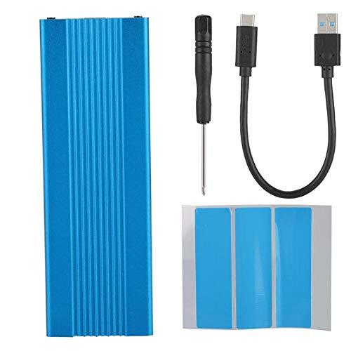 Caja SSD externa, USB 3.1 sin unidad a M.2 NVME 1050Mb/S Transmisión de alta velocidad Elegante NGFF PCIE a Tipo-C Adaptador USB3.1 a M.2 NVME SSD para M2 ASM2362 (azul)