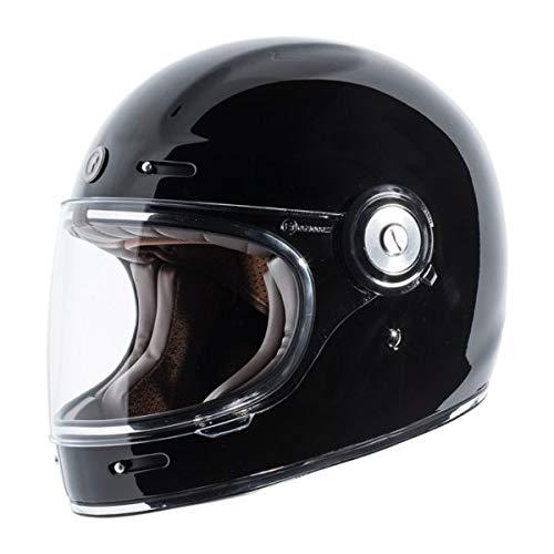 Casco Integrale TORC T-1 Retro' Vintage Nero Lucido Gloss Black OMOLOGATO ECE DOT Biker Moto Taglia XL