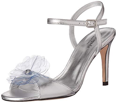 kate spade new york Women's Giulia Heeled Sandal, silver, 8 M US