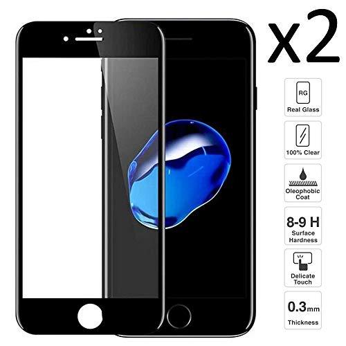 iGlobalmarket [Pack Ahorro - 2 Unidades] Protector de Pantalla 3D iPhone 7 y iPhone 8, Vidrio Templado, Sin Burbujas, Pantalla Completa, 9H Dureza, Resistente a Arañazos
