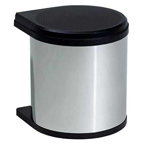 Hailo 351203 Mono Abfallsammler 12 Liter, edelstahl/schwarz