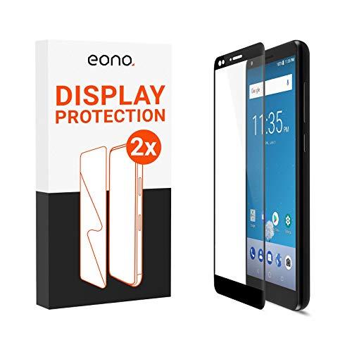 Amazon Brand – Eono 3D Panzerglas kompatibel mit Blade V9 - Schutzglas mit 100% Display-Abdeckung gegen Displaybruch - 9H, Full Cover - 2 Stück