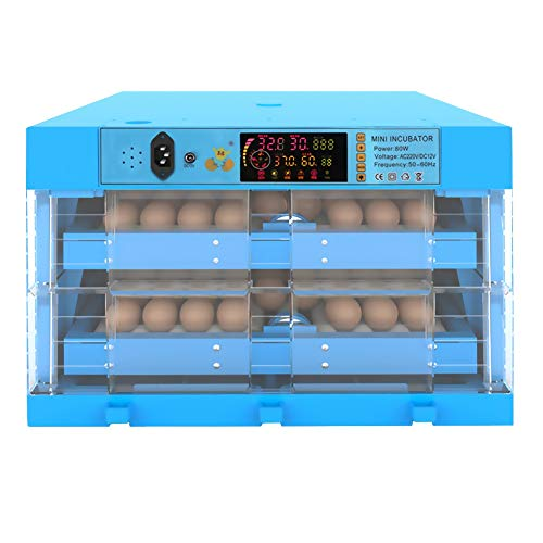 ZFF Egg Incubators Automatic Turning Chicken Goose Duck Poultry Hatcher Temperature Humidity Control Brooder Home Farm Use (Size : 112 Eggs)