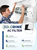 Solodine Non-Woven Disposable Anti Air Pollution and Dust AC Filter (White, 4 Pairs of 8 Pieces)