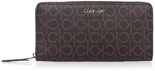 Calvin Klein Zip Around Wallet LG Brown Mono Mix
