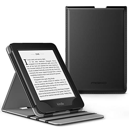 MoKo Coque Kindle Paperwhite (10ème génération,modèle 2018), étui de Retournement Vertical pour Kindle Paperwhite (10ème génération,modèle 2018) avec Fonction Réveil/Veille Automatique - Noir