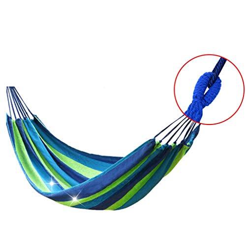 WXGM Grand hamac Porteur extérieur de Grand Espace extérieur, Confortable et Respirant (Couleur : Bleu, Taille : 100×100CM)