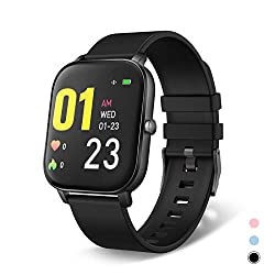 "moreFit Smart Watch, 1.4"" Touch Screen Fitness Tracker Watch with Heart Rate Monitor, Waterproof Activity Tracker with Stopwatch, Sleep Tracker, Step Calories Counter for Men Women"
