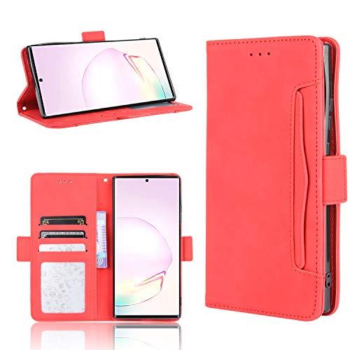 LODROC Galaxy Note 20 Ultra (Note 20 +) Hülle, TPU Lederhülle Magnetische Schutzhülle [Kartenfach] [Standfunktion], Stoßfeste Tasche Kompatibel für Samsung Galaxy Note20Ultra - LOBYU0200294 Rot