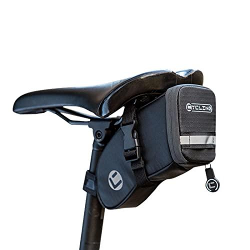 UBORSE Borsa da Sella per Bicicletta Impermeabile, Mini Borsa da Telaio per Bici MTB Riflettente, può Aappendere i Fanali Posteriori, 0.8L
