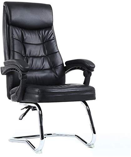 DBL Silla de escritorio silla de ordenador que descansa compitiendo Silla de oficina arco del pie respaldo alto equipo asiento incorporado primavera bolsa ergonomía PU Silla del juego for Office Sala