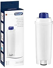De'Longhi DLS C002 Waterfilter, Accessoire voor De'Longhi Koffieautomaten met Waterfilter, Kalkreducerend, Wit