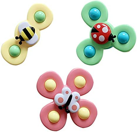 3PCS Baby Bath Toys Spinning Tops Windmill Eating Sucker Attract The Baby s Attention Suction product image