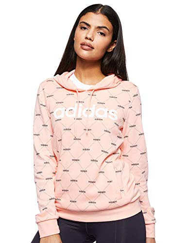 adidas Damen W Core Favourites, Sweatshirts S Glow Pink/Black