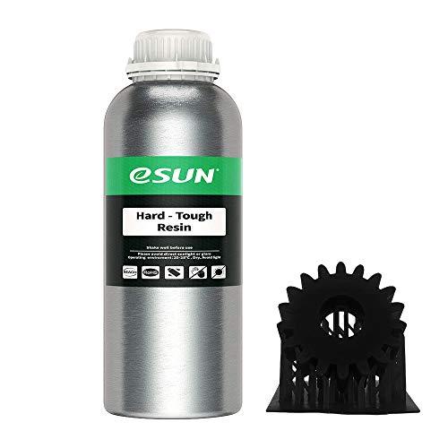 eSUN LCD UV 405nm ABS-Like 3D Resina Rápida Alta Dureza y Tenacidad para Impresora 3D LCD Resina de Curado UV Resina de Fotopolímero Resina Líquida de Impresión 3D, 1000g Negro