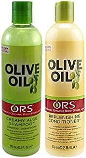 Organic Root Olive Oil Replenishing Conditioner and Olive Oil Creamy Aloe Shampoo