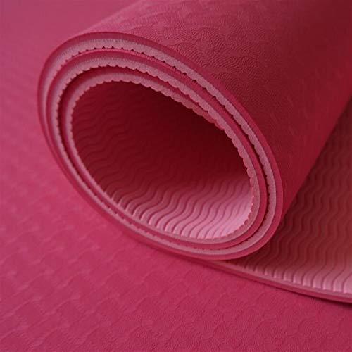 ZHANGFL Antiscivolo Yoga Mat, TPE Sport Yoga GymMat, Fitness Pilates Ginnastica Camping Colchonete Pad 183 * 61 * 6 (cm) (Color : 2)