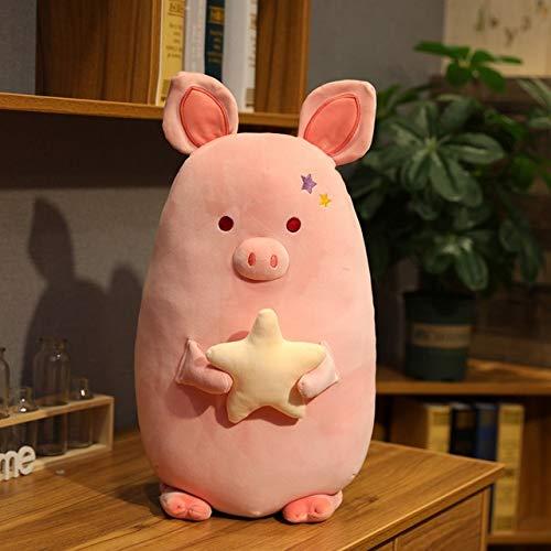 Huggable New Soft Fat Pink Schwein mit Stern Plüschtier Gefüllte Süße Tiere Piggy Doll Kids Appease Kissen Nap Kissen Mädchen Geschenk 45cm