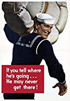 あなたが彼がそこに行かないかもしれないと言うなら海軍、ブリキのサインヴィンテージ面白い生き物鉄の絵の金属板ノベルティ