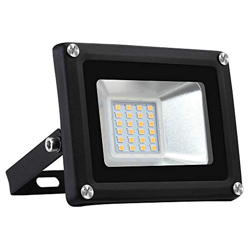 20W LED Outdoor Flood Lights Warm White AC 220V-240V Ordinary 2835 Lamp Beads Security Light Waterproof Outdoor Flood Light for Garden Garage Warehouse Backyard Indoor [CZ STOCK]