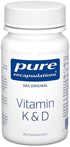 Pure Encapsulations - Vitamin K & D - Hypoallergene Rezeptur mit Vitamin K1, K2, und D3 für Starke Knochen - 60 Veg. Kapseln