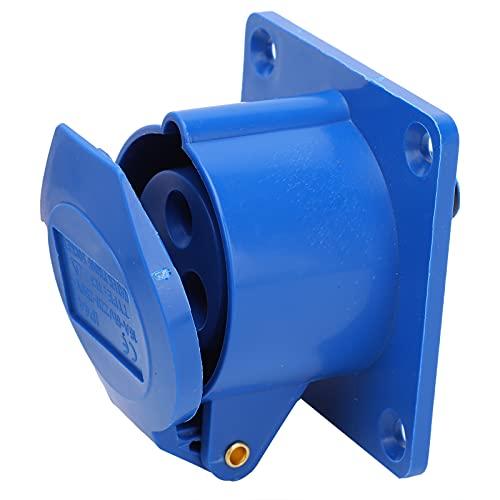 Enchufe industrial de 2 piezas, accesorios eléctricos impermeables a prueba de explosiones monofásicos de 3 clavijas con hebilla de rebote automático 16A 3 orificios 220-250 V IP44