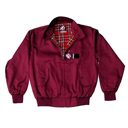 Warrior, chaqueta Harrington original de color bermellón rojo granate Medium