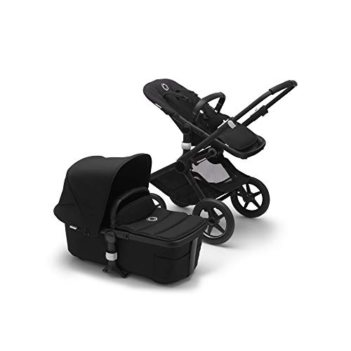 Bugaboo Fox 2 Complete Full-Size All-Terrain Stroller, The Most Advanced Comfort Stroller (Black/Black)