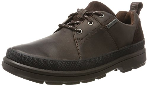 Clarks Rushwaylacegtx, Derby para Hombre, Marrón (Dark Brown Lea), 43 EU
