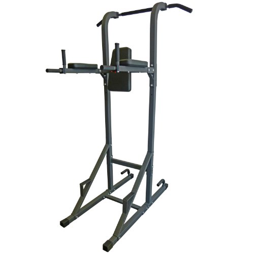 DKN Vkr Power Tower con Pull Up e Dip Station – Metallic