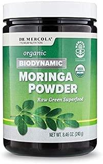 Dr. Mercola, Organic Biodynamic Moringa Powder, 8.46 oz. (240 g), 120 Servings, Non GMO, Soy Free, Gluten Free, USDA Organic