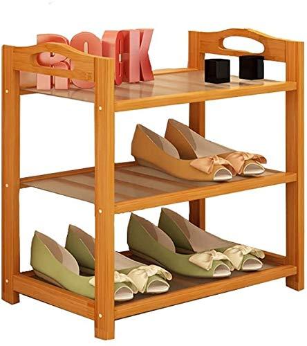 Wddwarmhome Zapatero de múltiples capas simple para el hogar zapatero zapatero rack de almacenamiento de montaje simple polvo de bambú zapatero estante