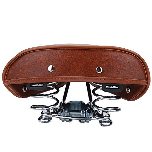 Yyqtgg Sillín de bicicleta adecuado, ajuste universal, color marrón