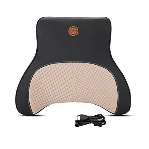 JINQIANSHANGMAO Nackenkissen Auto Massage Nackenstütze Kissen SEAT Rückenstütze Kopfstütze Kissen Simulation Menschliche Massage Reise Kissen Zubehör (Color : Beige Waist)