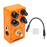 Overdrive Effect Pedal, Portable Guitar Overdrive Pedal for Music Lovers for Music Club for Guitarists for Music School