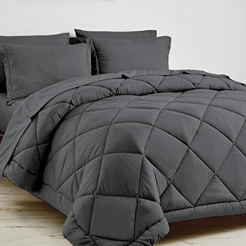 CozyLux Queen-Size-Bett in einer Tasche, 7-teiliges Set mit Bettdecke und Bettlaken,...