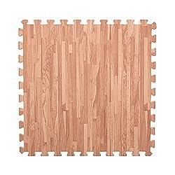 commercial IncStores Soft Foam Tiles (6 Tiles, Structured Maple) 2 x 2ft Floor Tiles… step floor tiles