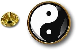 Akacha Spilla Pin pin's Spille spilletta Badge Yin Yang Feng Shui Peace And Love