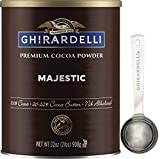 Ghirardelli Majestic Premium Cocoa Powder , 32 Ounce Can with Ghirardelli Stamped Barista Spoon