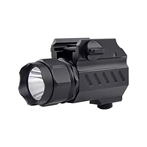 TrustFire G02 GunLight Compact Weapon-Mounted Pistol Light 210 Lumen Tactical Flashlight for G 17 19 21 22 30 43 48 and Picatinny Rail