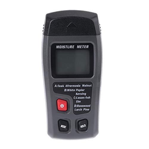 Medidor de humedad de madera, pantalla digital LCD, rango de