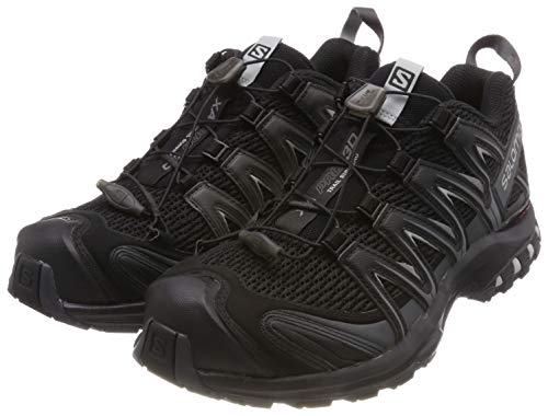 Wear Resisting Salomon Men's Black Green Running Shoes Xa