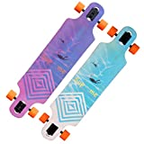 39 inch longboard drop through - JXJ Drop Through Longboard - 39 Inch 8 Layer Maple Wood Complete Skateboard Cruiser for Cruising, Carving, Free-Style and Downhill