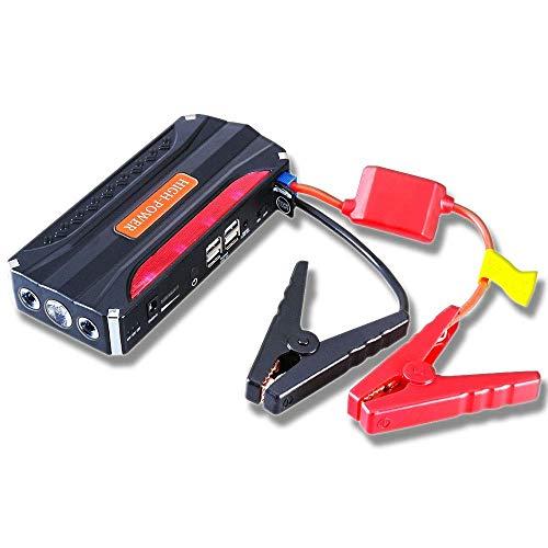 Wdszb Car Jump Starter hasta 4.0L Cargador de batería para automóvil y 12000mAh Cargador de batería Externo portátil para automoción con Abrazadera, Linterna, Salida de 12V 400A Pico