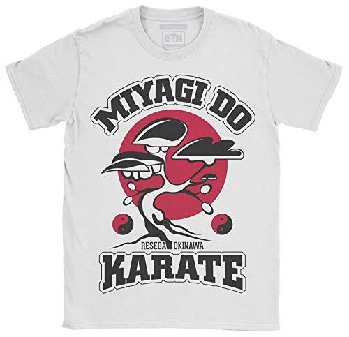 6TN Hombre Miyagi Do Karate Camiseta (S, Blanco)
