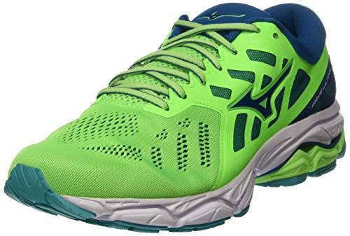 Mizuno Wave Ultima 11, Zapatillas de Running Hombre, Verde (Gecko/Blue Sapphire/Wht 16), 46.5 EU