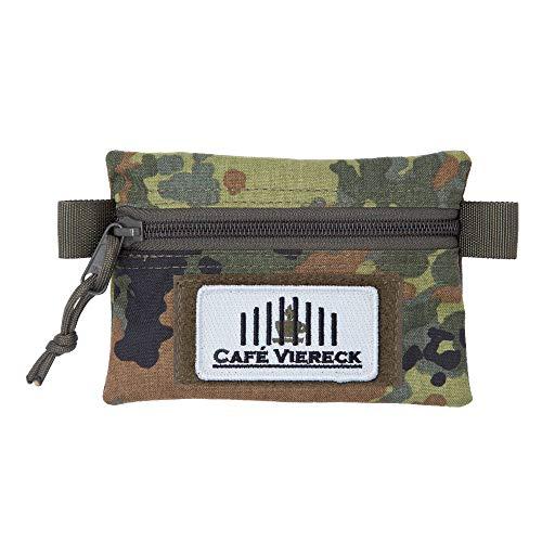Café Viereck Bundeswehr/Military Bag, Taktisches Pouch, Utility Pouch für Outdoor/Camping/Jagd, Militär Tasche/Zubehör (TactiOrganizer Flecktarn Oliv 16 x 12,5 cm)