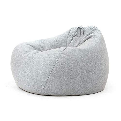QTQZDD zitzakken gaming stoelen lounger Recliner woonkamer zitzak Soft Snugly Multifunctioneel 3 maten kruk (kleur: oranje, grootte: 90x110cm + kruk) 20 EU 20